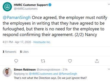 hmrc tweet furlough