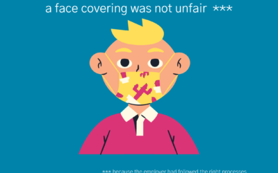 Can an employee be fairly dismissed for not wearing a face covering at work?